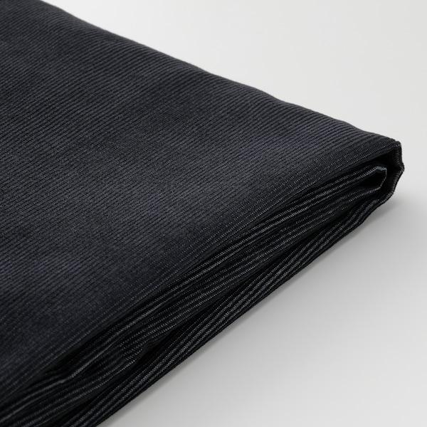VIMLE Bezug 3er-Sofa+Récamiere, mit Nackenkissen mit breiten Armlehnen/Saxemara schwarzblau