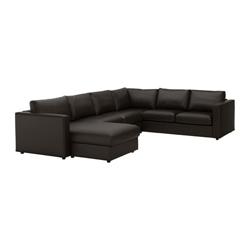 vimle ecksofa 5 sitzig mit r camiere farsta schwarz ikea. Black Bedroom Furniture Sets. Home Design Ideas