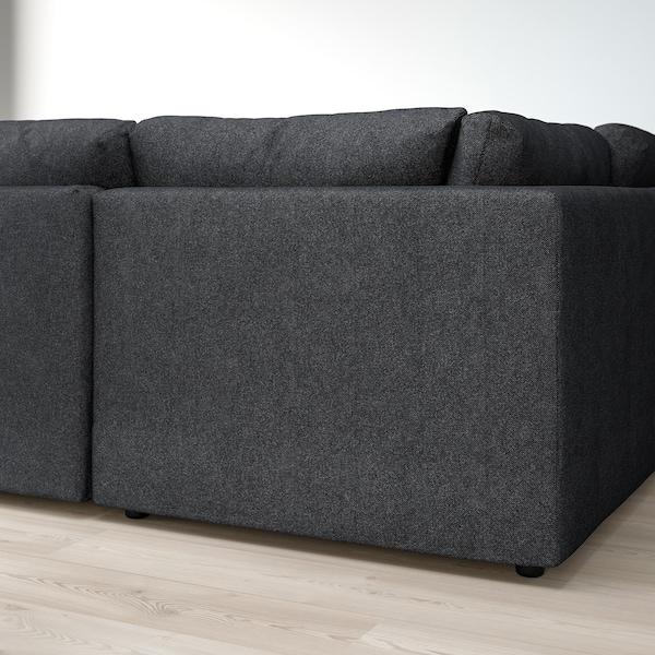 VIMLE Sofa, U-Form/6-sitzig, ohne Abschluss/Tallmyra schwarz/grau