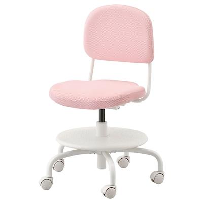 VIMUND Schreibtischstuhl für Kinder, hellrosa