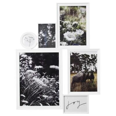 VITABY Collage-Rahmen für 6 Fotos, weiß