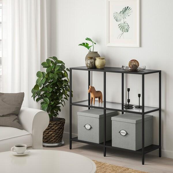 VITTSJÖ Regal schwarzbraun, Glas IKEA Deutschland