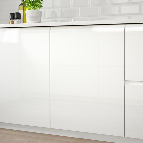 VOXTORP Geschirrspülerfront, Hochglanz weiß, 45x80 cm