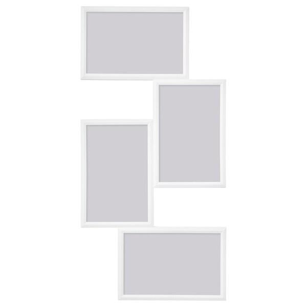 YLLEVAD Collage-Rahmen für 4 Fotos, weiß, 21x41 cm