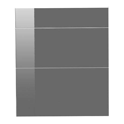 Ikea Abstrakt Kitchen Cabinet Door Front High Gloss Cream: ABSTRAKT Drawer Front, Set Of 3