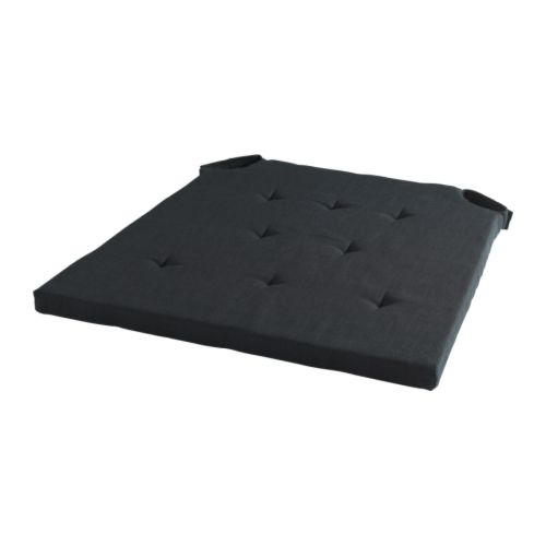 Admete chair pad black ikea - Galette chaise ikea ...