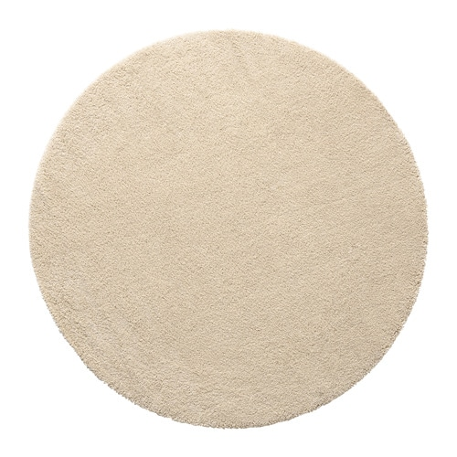 Dum rug high pile 195 cm ikea for Ikea small round rugs