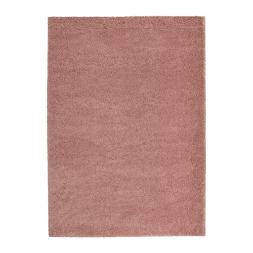 197 Dum Rug High Pile Light Brown Pink 170x240 Cm Ikea
