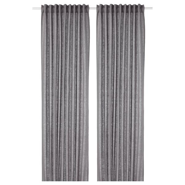 AINA curtains, 1 pair dark grey 250 cm 145 cm 1.64 kg 3.63 m² 2 pack