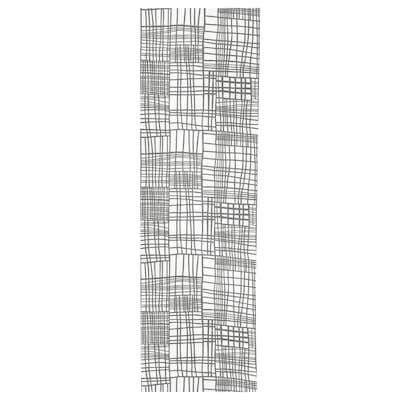 AKVELINA Panel curtain, white/grey, 60x300 cm