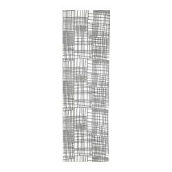 AKVELINA panel curtain, white, grey