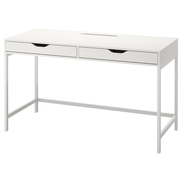 ALEX Desk, white, 132x58 cm