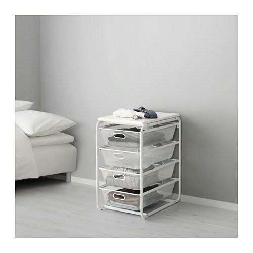 Algot Frame 4 Mesh Baskets Top Shelf Ikea