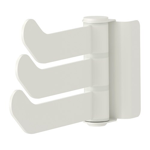 ALGOT Triple hook with bracket IKEA Just click in on ALGOT wall upright – no tools needed.