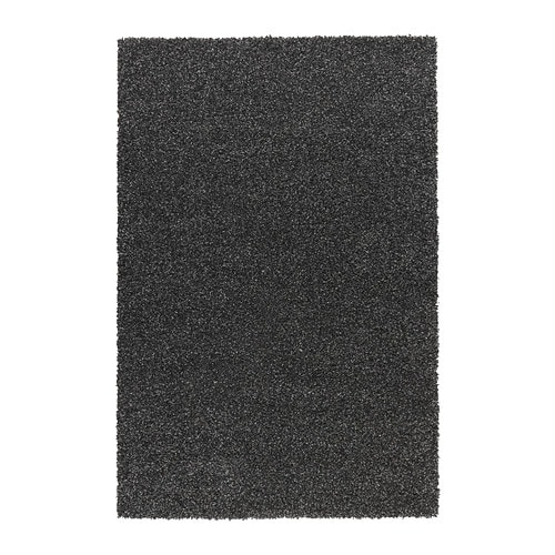 ALHEDE Rug, high pile IKEA The dense, thick pile dampens sound and provides a soft surface to walk on.