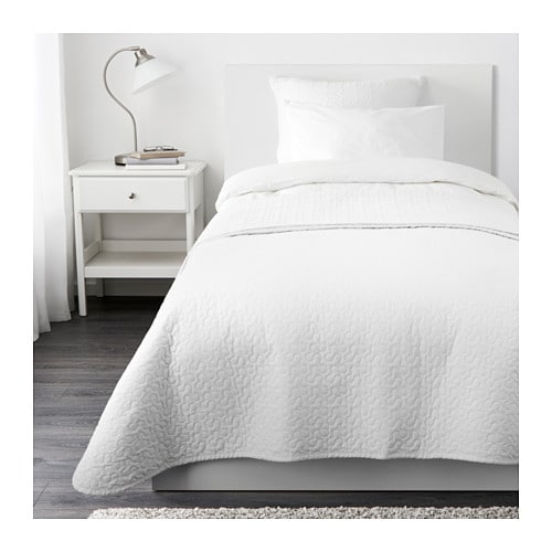 ALINA Bedspread and cushion cover IKEA Extra soft since the bedspread and cushion cover are quilted.