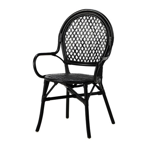 Lmsta chair ikea for Chaise noire ikea