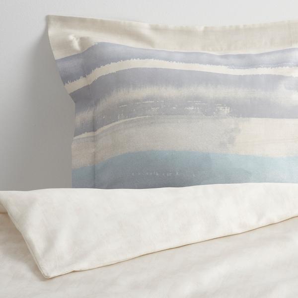 ALPDRABA quilt cover and 2 pillowcases blue/stripe 207 /inch² 2 pack 200 cm 150 cm 50 cm 80 cm