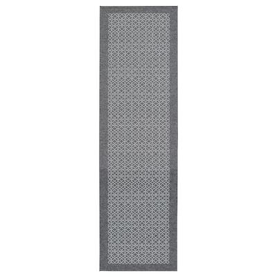 AMELA Rug, grey/patterned, 180x50 cm