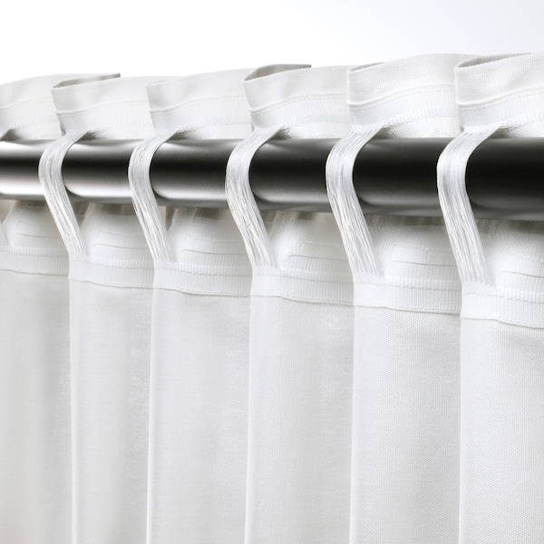 ANNALOUISA curtains, 1 pair white 250 cm 145 cm 1.60 kg 3.63 m² 2 pack