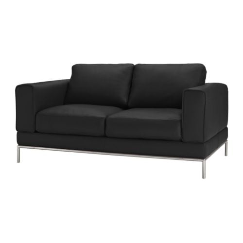 Arild two seat sofa karakt r black ikea for Canape ikea cuir