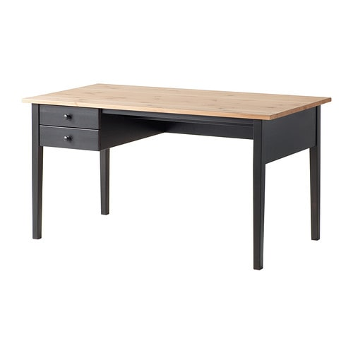 ARKELSTORP Desk IKEA Solid wood is a durable natural material.  Can be placed in the middle of a room because the back is finished.