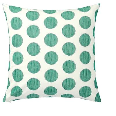 ÅSATILDA Cushion cover, natural dark green/dotted, 50x50 cm