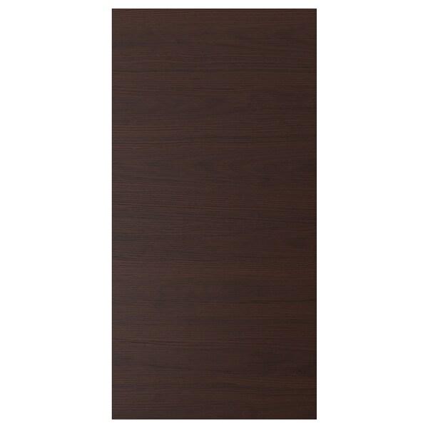 ASKERSUND Door, dark brown ash effect, 60x120 cm