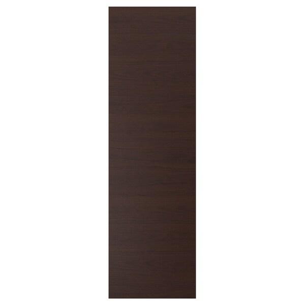 ASKERSUND Door, dark brown ash effect, 60x200 cm