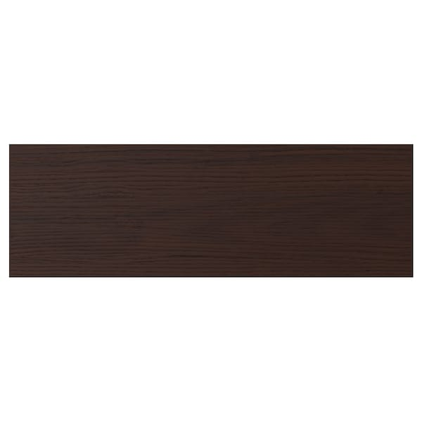 ASKERSUND Drawer front, dark brown ash effect, 60x20 cm