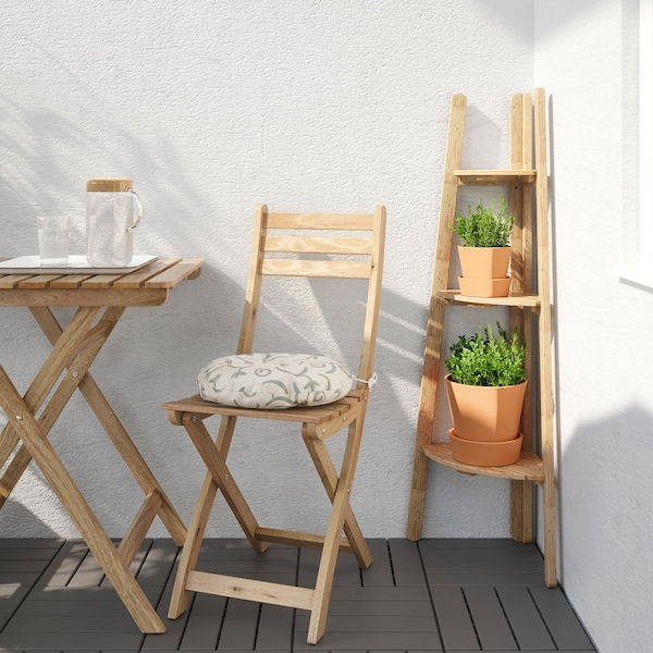 ASKHOLMEN plant stand light brown stained 45 cm 32 cm 116 cm