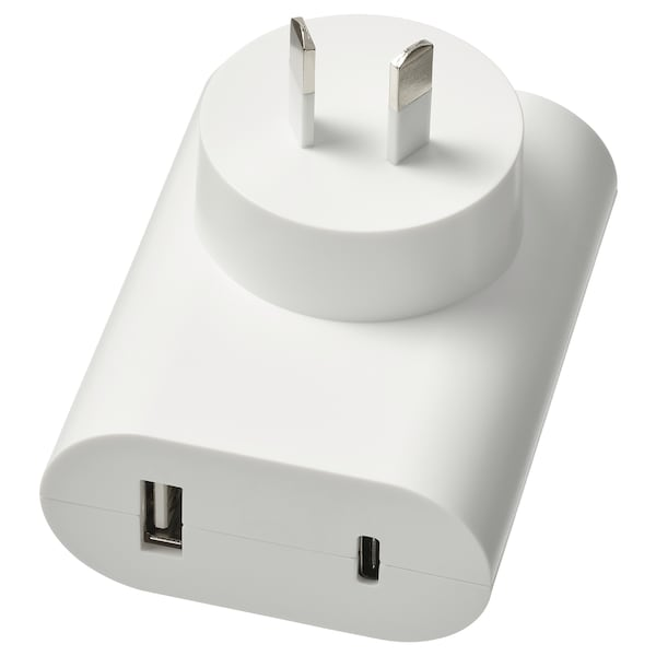 ÅSKSTORM 23W USB charger, white