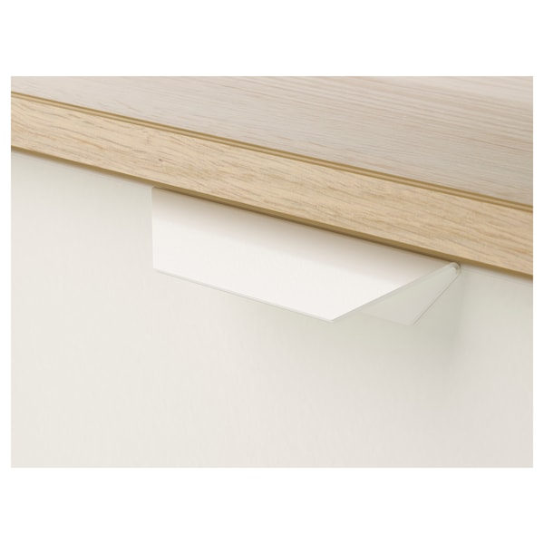 ASKVOLL chest of 3 drawers white stained oak effect/white 70 cm 41 cm 69 cm 62 cm 33 cm 7 kg
