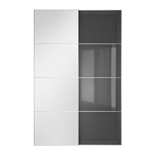 Auli uggdal pair of sliding doors 150x236 cm ikea for Ikea porte miroir