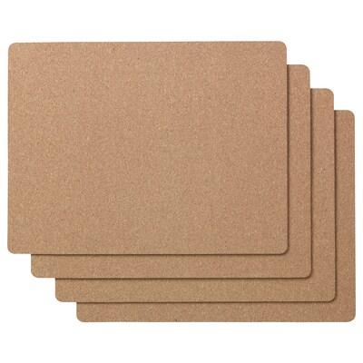 AVSKILD Place mat, cork, 42x32 cm