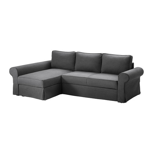Backabro marieby sofa bed with chaise longue svanby grey ikea - Chaise pliantes ikea ...