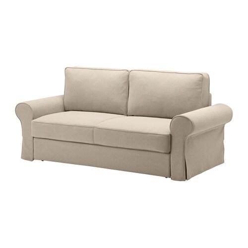 backabro three seat sofa bed hylte beige ikea. Black Bedroom Furniture Sets. Home Design Ideas