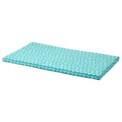 BÄNKKAMRAT Bench pad, turquoise, 90x50x3 cm