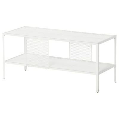 BAGGEBO TV bench, metal/white, 90x35x40 cm