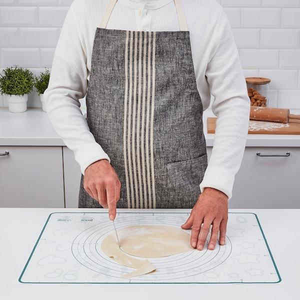 BAKTRADITION Baking mat, white/turquoise, 61x46 cm