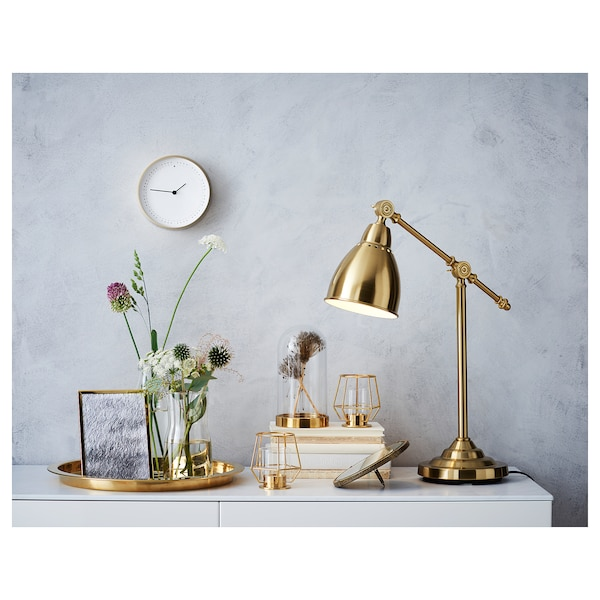 BAROMETER work lamp brass-colour 11 W 48 cm 18 cm 15 cm 1.9 m