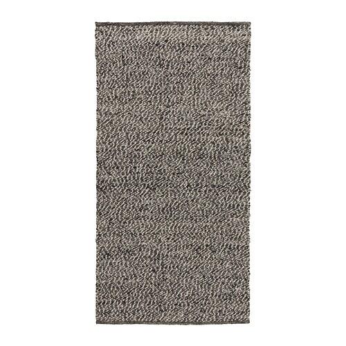 Basn s rug flatwoven ikea for Grey rug ikea