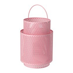 BEHÄRSKA lantern for block candle, pink