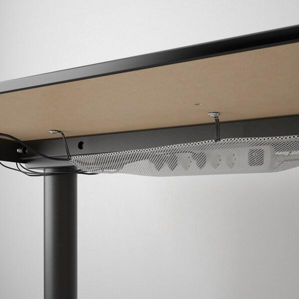 BEKANT Desk sit/stand, black stained ash veneer/black, 120x80 cm