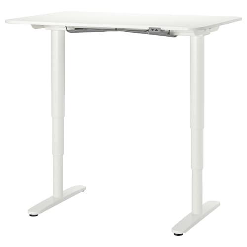 BEKANT desk sit/stand white 120 cm 80 cm 65 cm 125 cm 70 kg