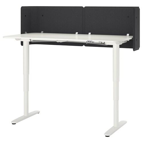 BEKANT reception desk sit/stand white 55 cm 160 cm 80 cm 65 cm 125 cm 70 kg
