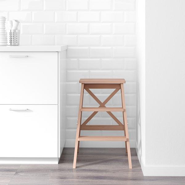 BEKVÄM stepladder, 3 steps beech 63 cm 100 kg