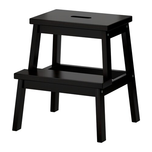 BEKVÄM Step stool IKEA Solid wood is a hardwearing natural material.  Hand-hole in the top step makes the step stool easy to move.