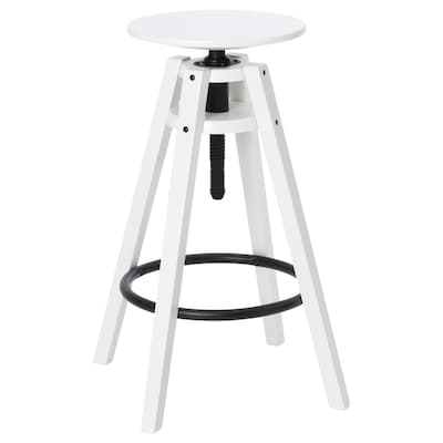BENGTERIK Bar stool, white, 63-74 cm