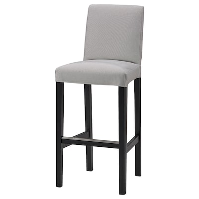 BERGMUND Cover for bar stool with backrest, Orrsta light grey